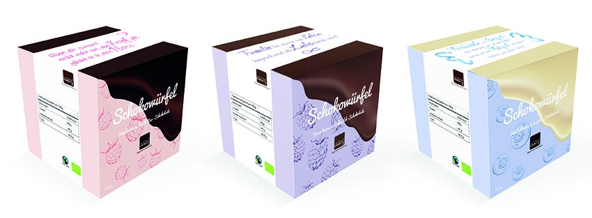 Schokowürfel Verpackung